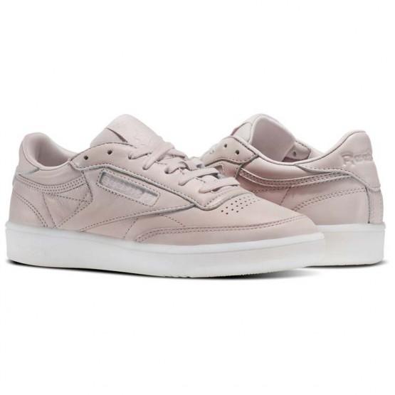 Reebok Club C 85 Schuhe Damen Rosa/Weiß (665FQGJM)