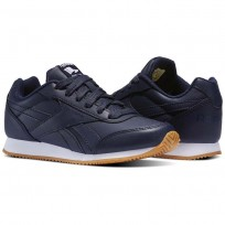 Reebok Royal Classic Jogger Shoes Kids Collegiate Navy-Gum (667YNFAV)