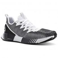 Reebok Fusion Flexweave Running Shoes Mens White/Skull Grey/Black (670WCVXP)
