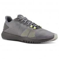 Reebok Flexagon Training Shoes For Men Grey/Lemon (673SAXQF)