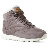Reebok Cl Lthr Arctic Shoes Womens Almost Grey/Chlk/Sft Camel/Pale Pnk/Snd Taupe (674CDNUL)