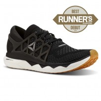 Reebok Custom Floatride Run Running Shoes Womens Black/Gravel/White/Gum (675LUERQ)