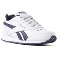 Reebok Royal Classic Jogger Shoes For Kids White/Navy (677CDOZY)