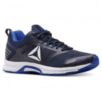Reebok Ahary Runner Running Shoes Mens White/Vital Blue/Collegiate Navy (677KQJBC)