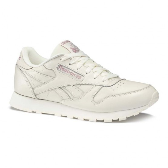 Reebok Classic Leather Shoes Womens Trend X-Chalk/Infused Lilac (678OKQWB)