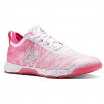Reebok Speed Training Shoes Womens Pale Pink/Acid Pink/White/Silver (678VNSTI)
