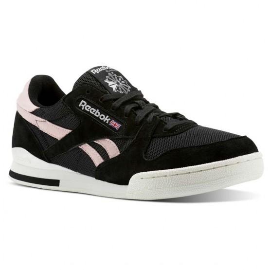 Reebok Phase 1 Pro Shoes Mens Sc-Black/Practical Pink/Chalk (679XAIJP)