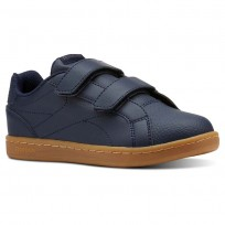 Reebok Royal Comp Shoes For Boys Navy/Deep Grey (685STFXQ)