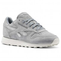 Reebok Classic Leather Schuhe Damen Grau/Silber (688CQMAY)