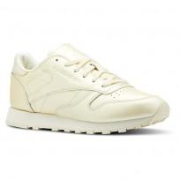 Reebok Classic Leather Schuhe Damen Gelb (688YTCVJ)