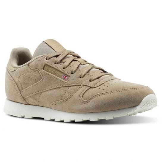 Reebok Classic Leather Shoes Kids Beige/Duck Season/Chalk (693IRTNU)