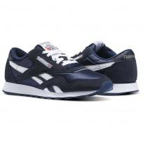 Reebok Classic Nylon Shoes Mens Team Navy/Platinum (694ASYQH)
