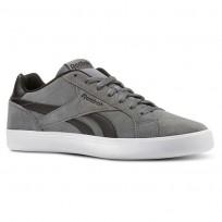 Reebok Royal Complete Shoes Mens Alloy/Black/White (695ZITNC)