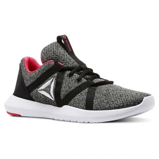 Reebok Reago Training Shoes Womens Black/Tin Grey/White/Twisted Pink (699SGEOX)