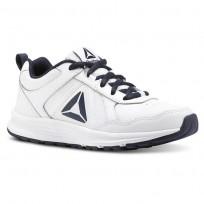 Reebok ALMOTIO 4.0 Running Shoes For Kids White/Navy (701PEOYB)
