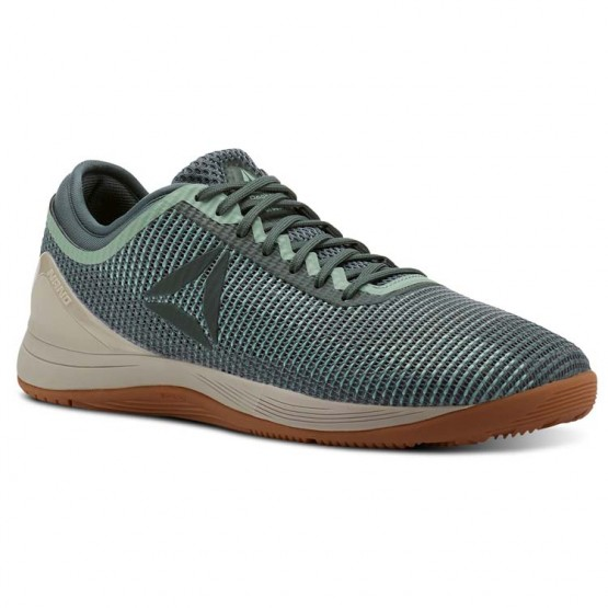 Reebok CrossFit Nano Shoes Mens Industrial Green/Chalk Green/Parchment/Gum (704APNXT)