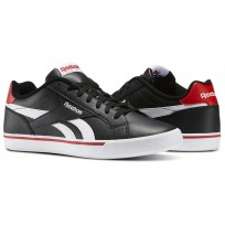 Reebok Royal Complete Shoes Mens Black/White/Riot Red (708LSUYJ)