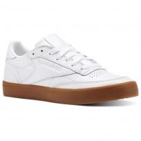 Reebok Club C 85 Shoes Womens White/Gum (709TLMIQ)