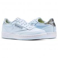 Reebok Club C Shoes Girls Fresh Blue/White (710BOMHQ)
