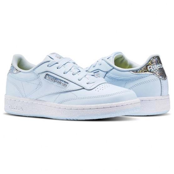 Reebok Club C Shoes For Girls Blue/White (710BOMHQ)