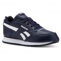 Reebok Royal Glide Shoes Kids Sh-Collegiate Navy/White (710NWOJR)
