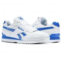 Reebok Royal Glide Shoes Mens White/Vital Blue (711ATWDG)