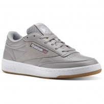 Reebok Club C 85 Shoes Mens Powder Grey/White/Washed Blue-Gum (711BHOXE)