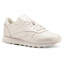 Reebok Classic Leather Shoes Womens Mid-Pale Pink (712FOZJL)