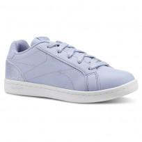 Reebok Royal Complete Shoes For Girls White/Silver (713RMSJL)