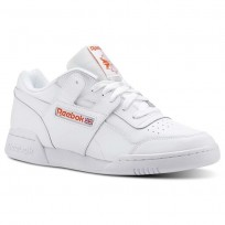 Reebok Workout Plus Shoes Mens Fcu-White/ Bright Lava (714NJGHE)