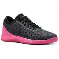 Reebok CrossFit Nano Shoes Womens Alloy/Black/Solar Pink (721PVISH)