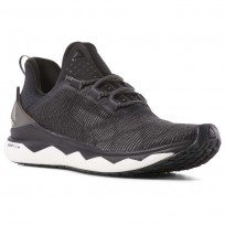 Reebok Floatride Run Smooth Running Shoes Womens Strch-Black/White/Tin Grey (724AEPUI)