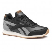 Reebok Royal Classic Jogger Shoes For Boys Black/Deep Grey/Cream (725ANHVZ)