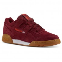 Reebok Workout Plus Shoes Mens Spg/Collegiate Burgundy/Carotene/White/Gum (726NBGOA)