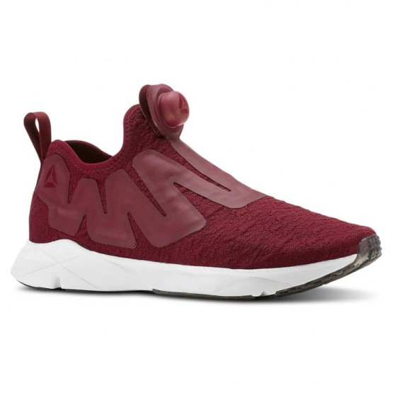 Reebok Pump Supreme Running Shoes Mens Ice-Rustic Wine/Cranberry Red/Black/White (728JMCWN)