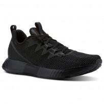 Reebok Fusion Flexweave Running Shoes Mens Black/Ash Grey/Coal/White (729NSHOF)