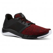 Reebok Print Running Shoes Mens Black/Primal Red/White (729ZHLWJ)