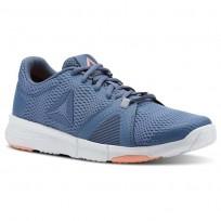 Reebok Flexile Training Shoes Womens Blue Slate/Cloud Grey/Digital Pink/Wht (743RIAVH)