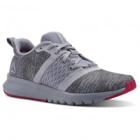 Reebok Print Running Shoes Womens Cloud Grey/Cool Shadow/Rugged Rose (743WAYFL)