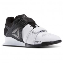 Reebok Legacy Lifter Shoes Womens White/Black/Pewter (743WZEVY)