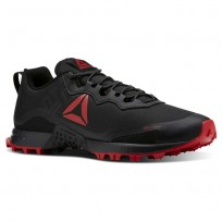 Reebok All Terrain Running Shoes Mens Black/Primal Red/Ash Grey (746VYJTK)