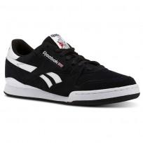 Reebok Phase 1 Pro Shoes For Men Black/White (747CMYHV)