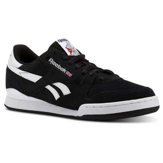 Reebok Phase 1 Pro Shoes Mens Estl - Black/White (747CMYHV)