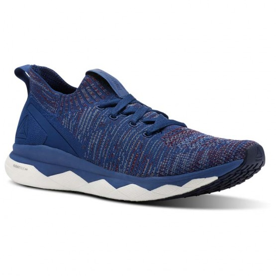 Reebok Floatride RS ULTK Running Shoes Mens Bnkr Blue/Rstc Wne/Blue Slte/Skl Gry/Col Navy (748ICUVY)