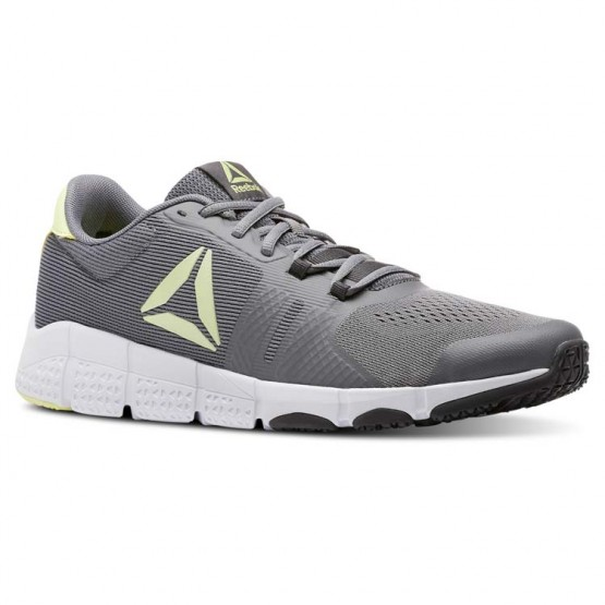 Reebok TrainFlex2.0 Training Shoes Mens Shark/Coal/Lemon Zest/White (750HFBCN)