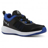 Reebok Road Supreme Running Shoes Boys Black/Vital Blue/White (757CHPZY)