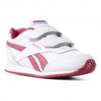 Reebok Royal Classic Jogger Shoes For Girls White/Rose (762ZVGWD)