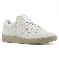Reebok Club C 85 Shoes Mens Nm-Skull Grey/Super Neutral/White (767BIJRE)