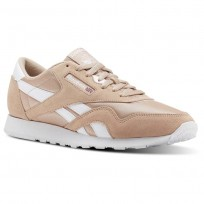Reebok Classic Nylon Shoes Mens Sf-Bare Beige/White (768KJYUI)