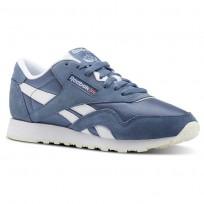 Reebok Classic Nylon Shoes Womens Mutedberries-Blue Slate/White/Chalk (768PFHQT)